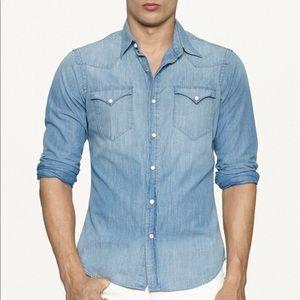Ralph Lauren Men's Chambray Western Shirt